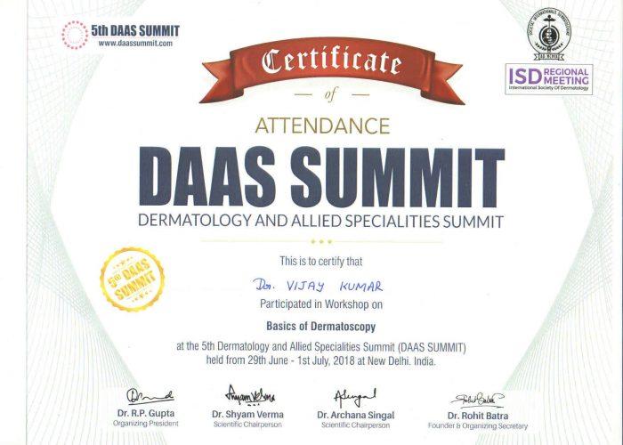 certificate 18th
