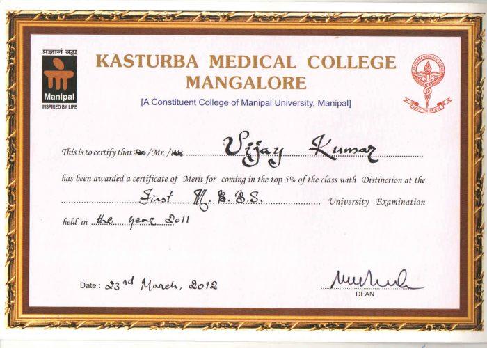 certificate 19th